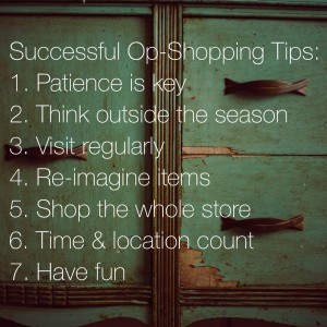 7 tips for successful op-shopping