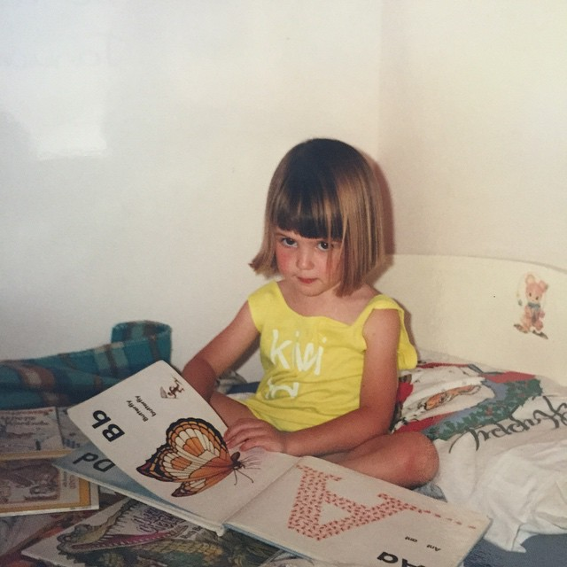 What do you have planned for your Friday night? Me, I'm going to be reading & if this photo is anything to go by I don't like being disturbed! #flashback #childhood #reading