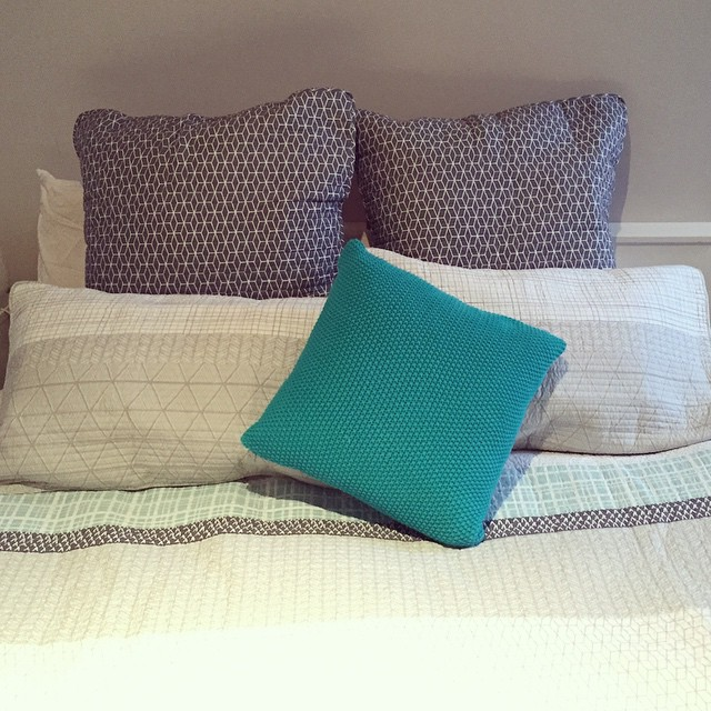 Can I just stay in bed today? I found the bright cushion I needed and everything! #myhome #newthings #bedding @adairs