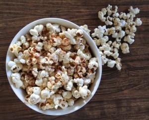 Uses for coconut oil - homemade popcorn