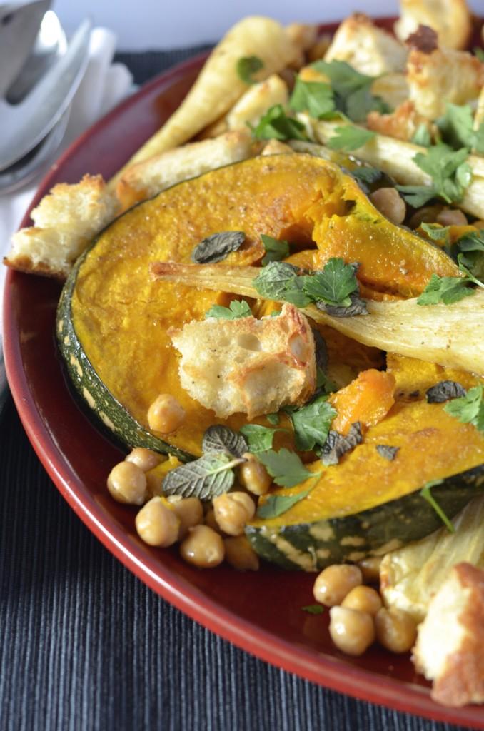 Cumin roasted pumpkin & parsnip