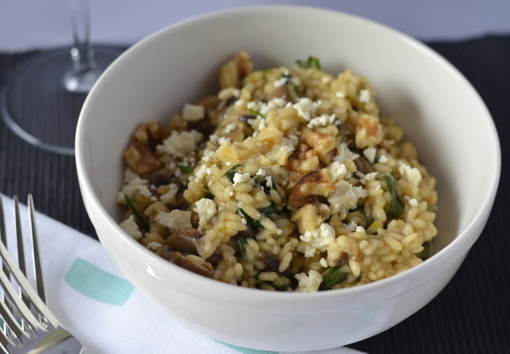 Mushroom & spinach risotto | I Spy Plum Pie
