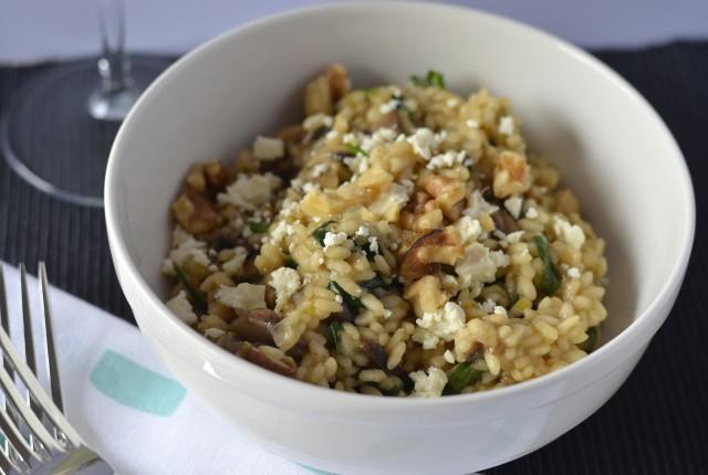 Mushroom & spinach risotto | I Spy Plum Pie