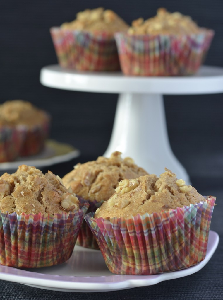 Banana Walnut Muffins | I Spy Plum Pie