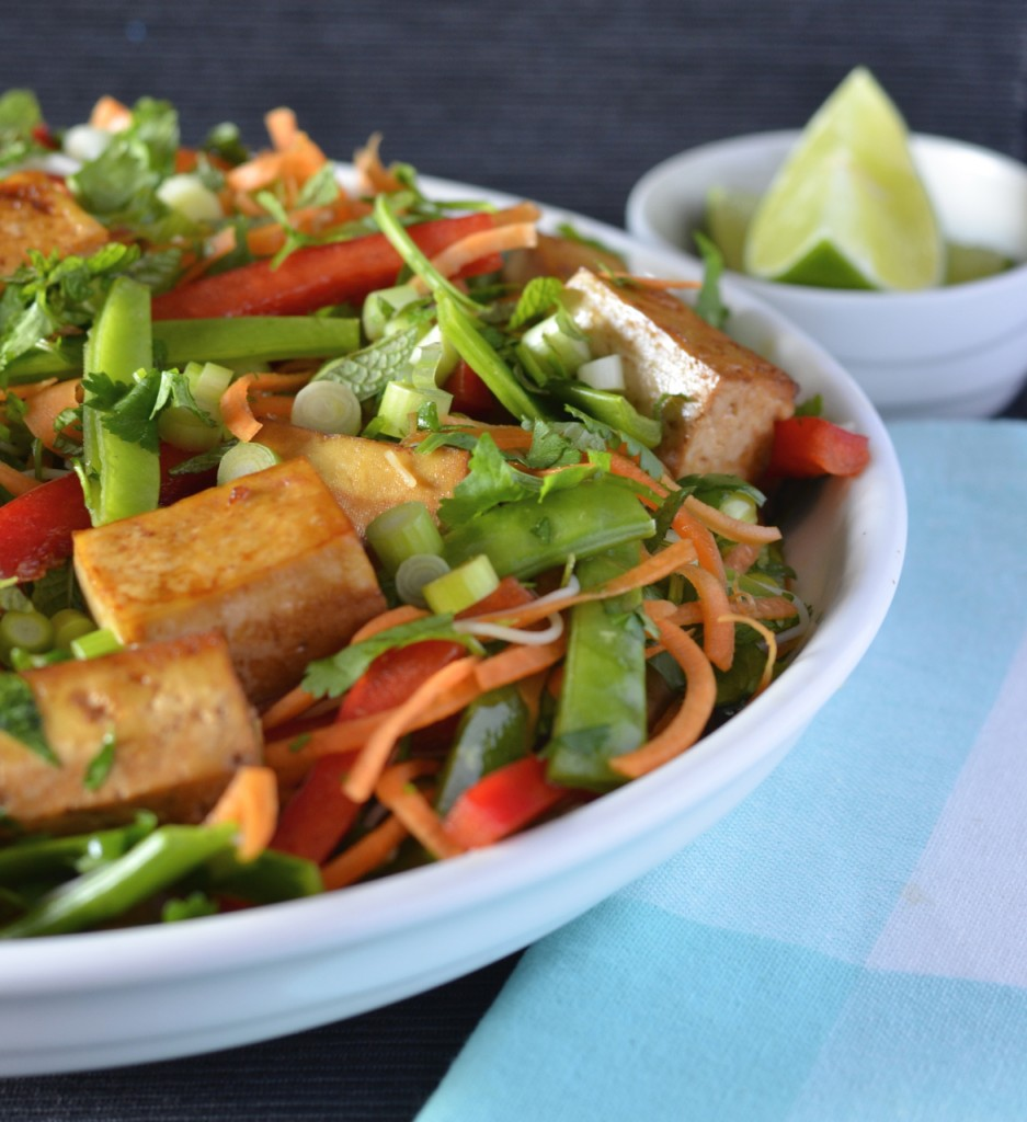 Baked Tofu Vermicelli Salad | I Spy Plum Pie