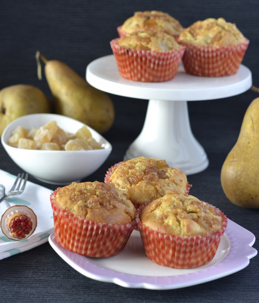 Pear and Ginger Muffins | I Spy Plum Pie