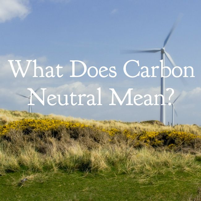What does carbon neutral mean