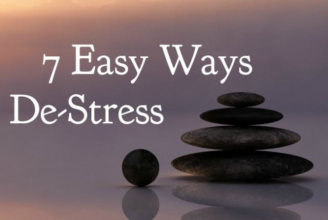 7 Easy Ways to De-Stress   I Spy Plum Pie