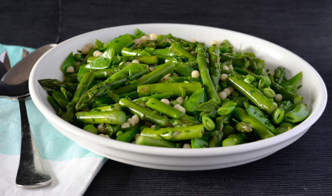 Pea & Asparagus Israeli Couscous Salad   I Spy Plum Pie