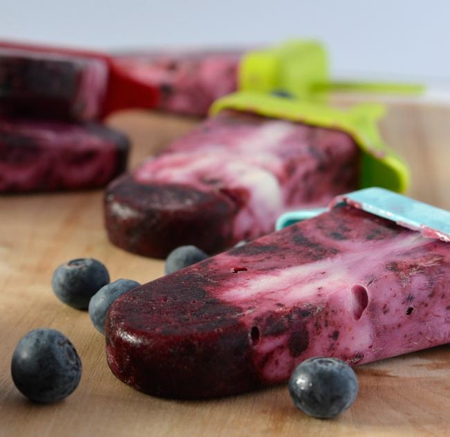 Blueberry Yoghurt Icy Poles   I Spy Plum Pie
