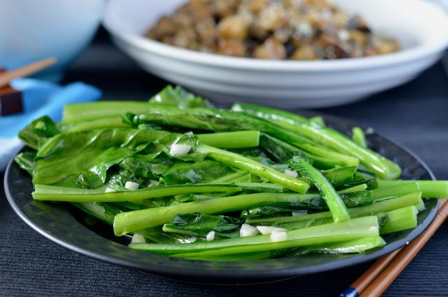 Garlic Asian Greens   I Spy Plum Pie