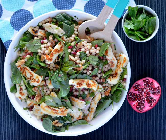 Haloumi Pomegranate Salad 3