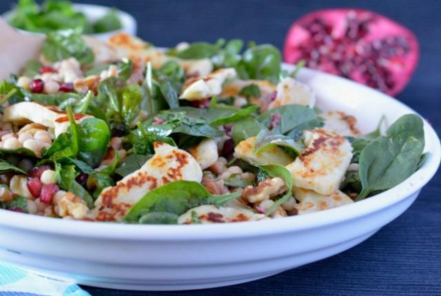 Haloumi Pomegranate Salad | I Spy Plum Pie