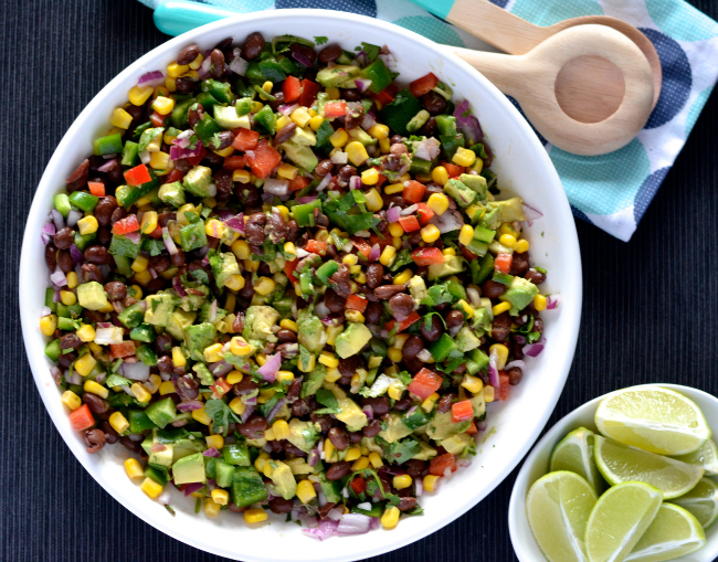 Mexican Bean Salad | I Spy Plum Pie