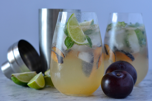 Plum Basil Cocktail | I Spy Plum Pie