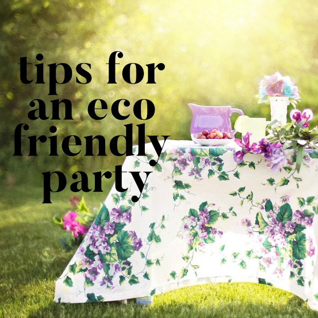 Tips for an Eco Friendly Party | I Spy Plum Pie