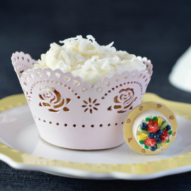Lemon Coconut Cupcakes   I Spy Plum Pie