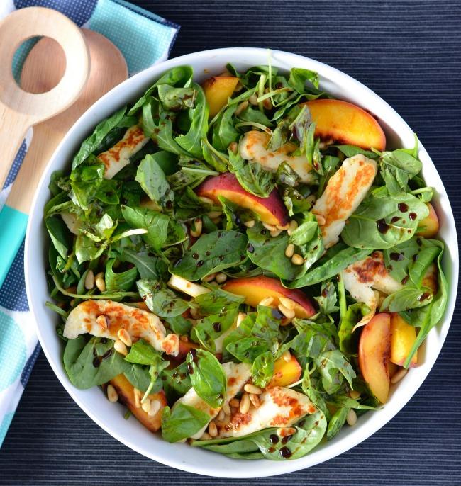 Peach Haloumi Salad | I Spy Plum Pie