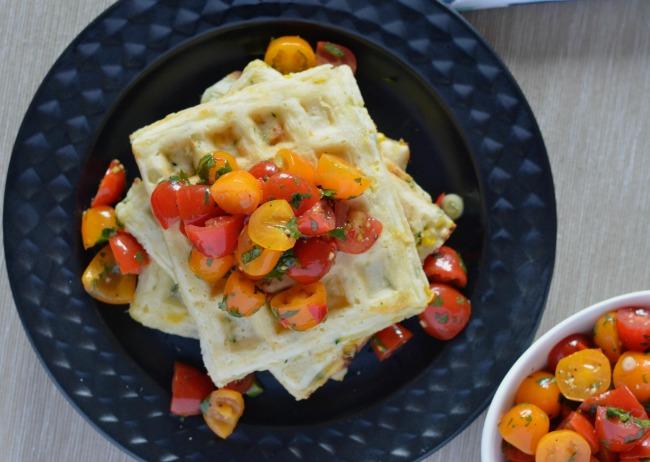 Zucchini Corn Waffles | I Spy Plum Pie