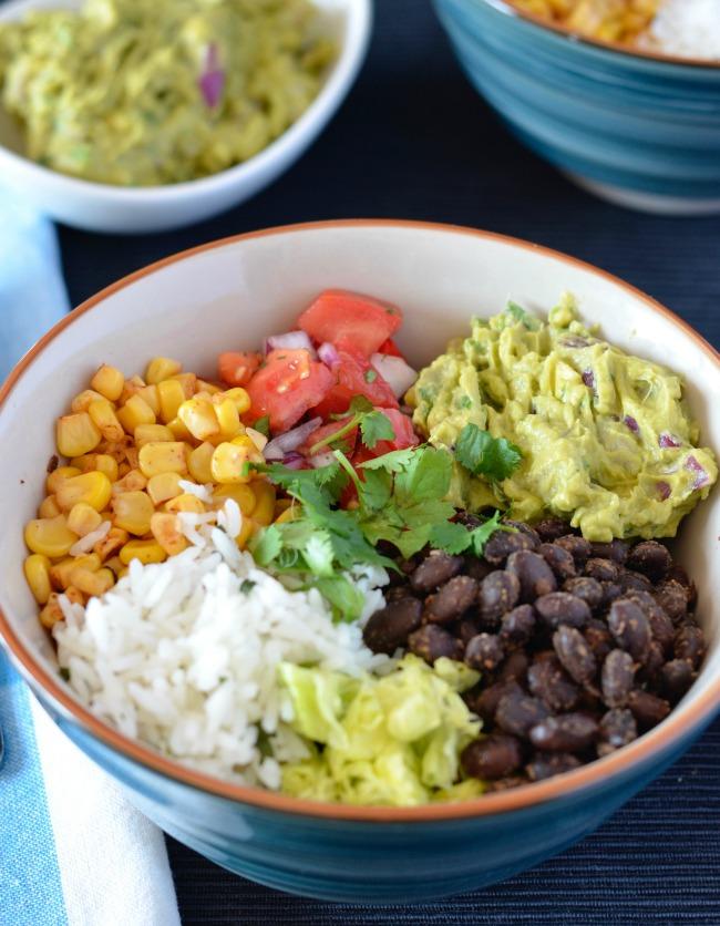 Black Bean Burrito Bowl | I Spy Plum Pie