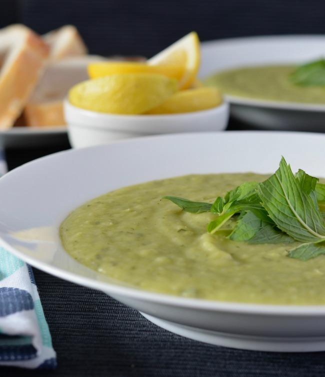 minted pea & potato soup | I Spy Plum Pie