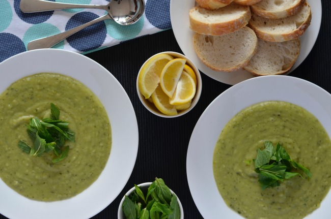 Minted Pea & Potato Soup | I Spy Plum Pie