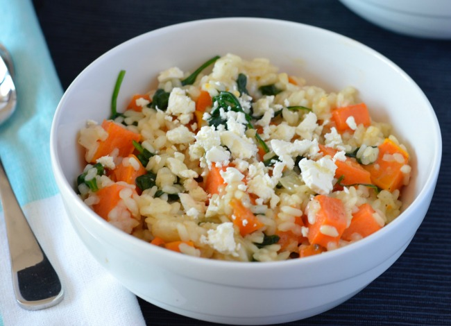 Sweet Potato Spinach Risotto | I Spy Plum Pie