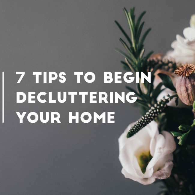 7 Tips to Begin Decluttering Your Home | I Spy Plum Pie