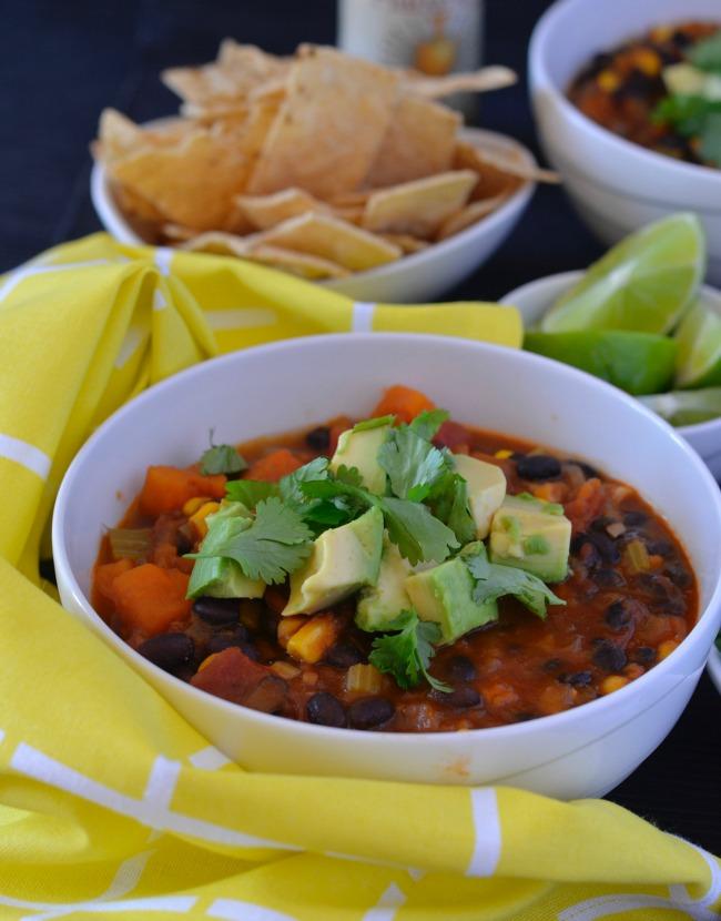 Black Bean & Sweet Potato Soup | I Spy Plum Pie