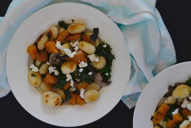 Pumpkin, Mushroom & Kale Gnocchi | I Spy Plum Pie