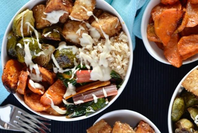 Winter Tofu Buddha Bowl | I Spy Plum Pie