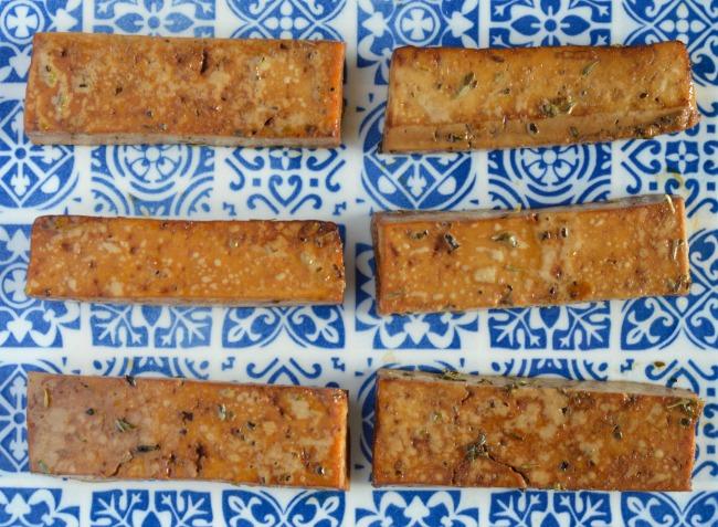 Baked Italian Herb Tofu | I Spy Plum Pie