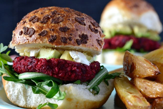 Beetroot & Chickpea Burgers | I Spy Plum Pie