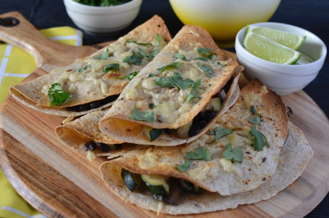 Mushroom, Zucchini & Black Bean Quesadillas | I Spy Plum Pie