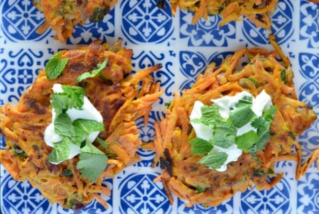 Sweet Potato & Carrot Fritters | I Spy Plum Pie
