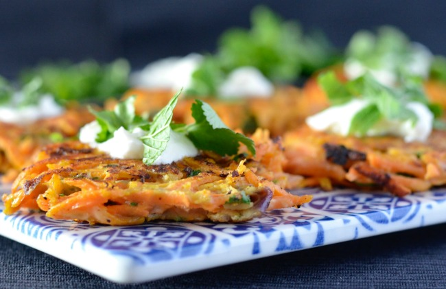 Sweet Potato & Carrot Fritters | I Spy Plum Pie