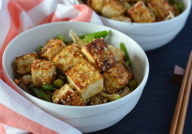Sesame Tofu Soba Salad | I Spy Plum Pie