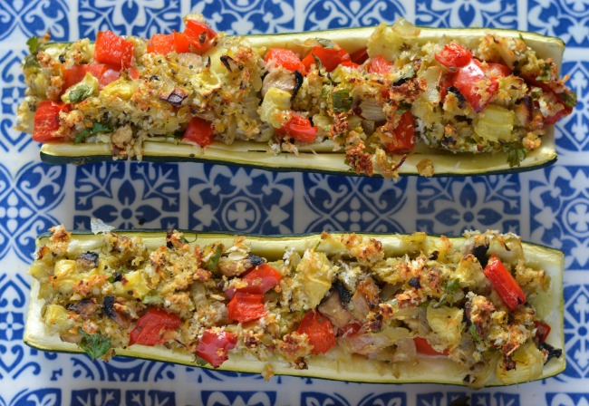 Vegetable Stuffed Zucchini | I Spy Plum Pie