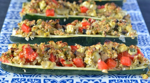 Vegetable Stuffed Zucchini | I Spy Plum Pie