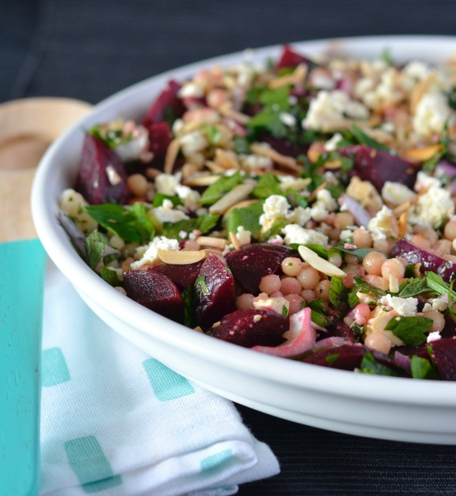 Beetroot Almond Israeli Couscous Salad | I Spy Plum Pie