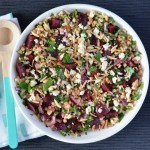 Recipe: Beetroot Almond Israeli Couscous Salad