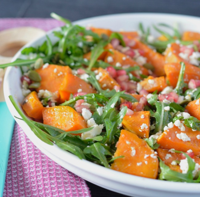Sweet Potato & Pomegranate Salad | I Spy Plum Pie