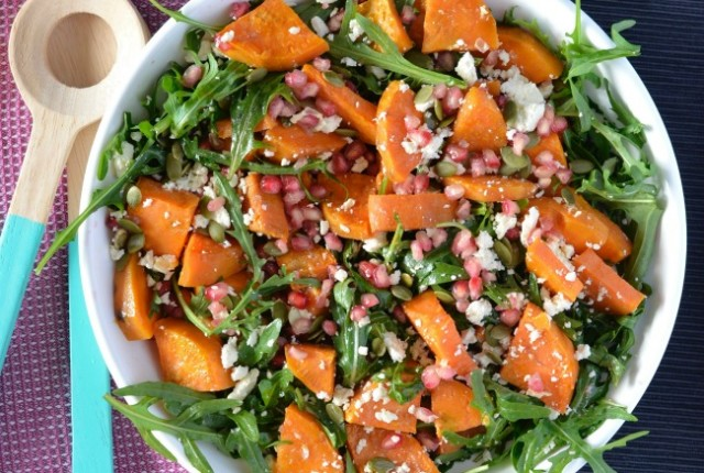 Sweet Potato & Pomegranate Salad   I Spy Plum Pie