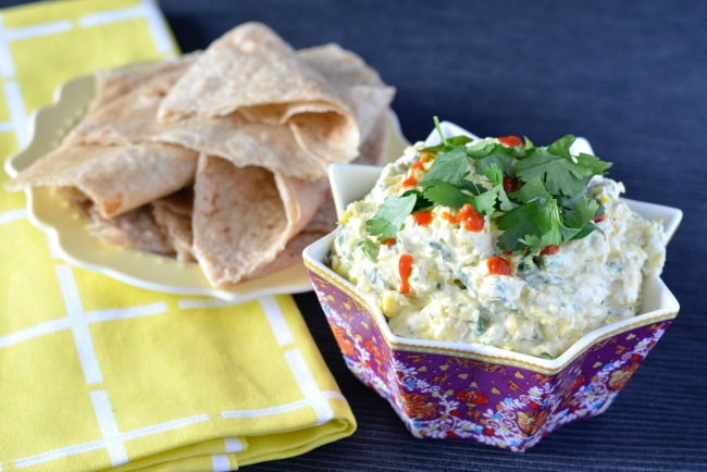 Grilled Sweetcorn & Sour Cream Dip | I Spy Plum Pie