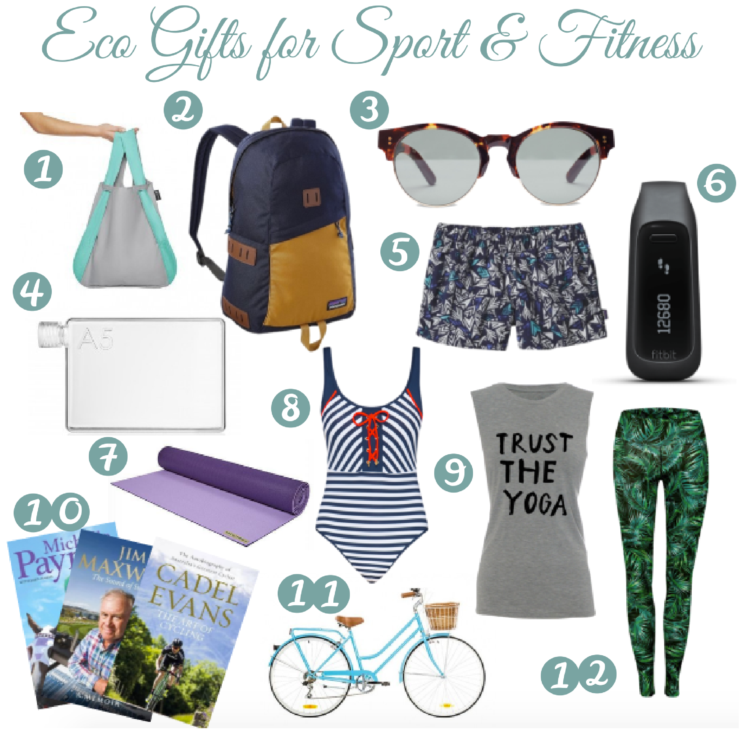 Eco Gifts for Sport and Fitness | I Spy Plum Pie