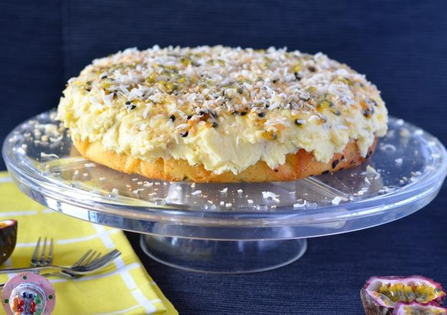 Passionfruit Coconut Cake | I Spy Plum Pie