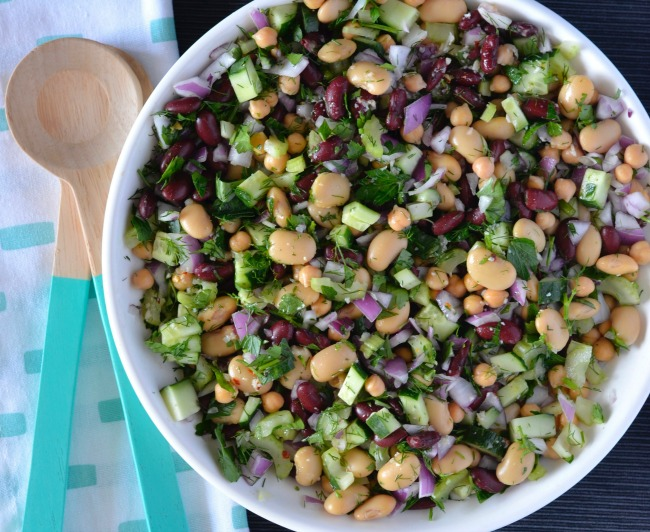 Parsley Bean Salad | I Spy Plum Pie