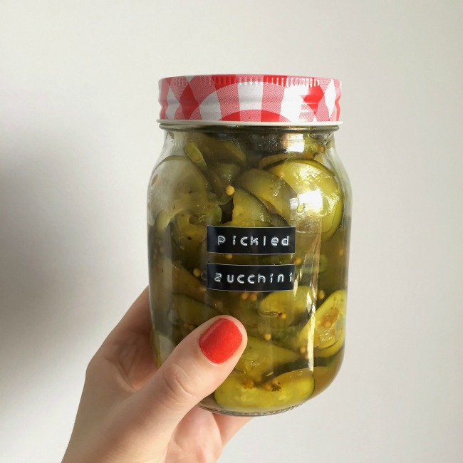 Pickled Zucchini | I Spy Plum Pie