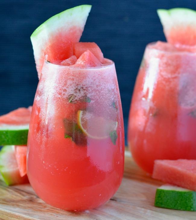 Watermelon Ginger Cocktail | I Spy Plum Pie