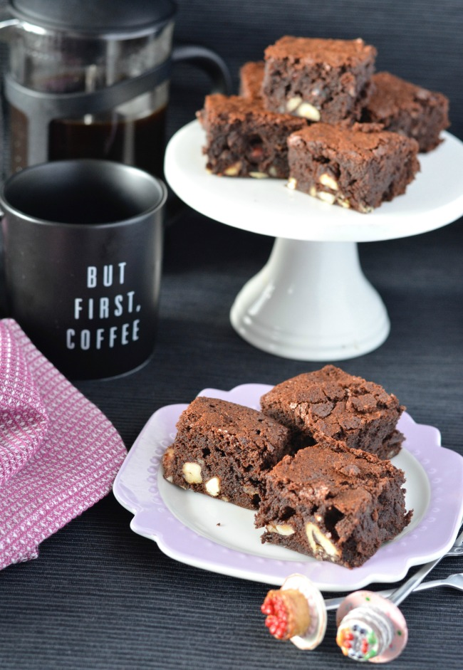 Hazelnut Coffee Brownies | I Spy Plum Pie